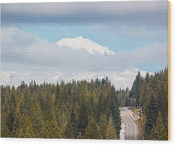 Wood Print featuring the photograph Up To The Mountain by Jan Davies
