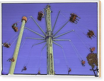 Up Up And Away 2013 - Coney Island - Brooklyn - New York Wood Print by Madeline Ellis