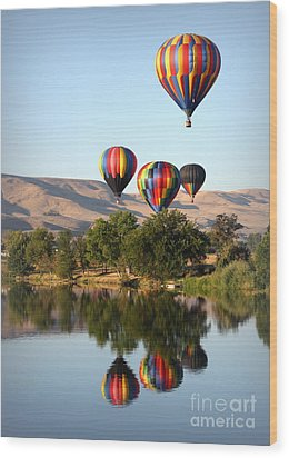 Up Up And Away Wood Print by Carol Groenen