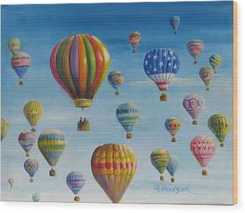 Up Up And Away Wood Print by Oz Freedgood