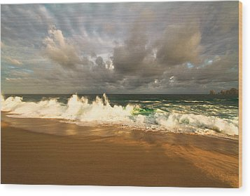 Wood Print featuring the photograph Upcoming Tropical Storm by Eti Reid