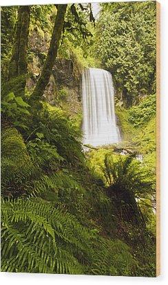 Upper Bridal Veil Falls 1 Wood Print