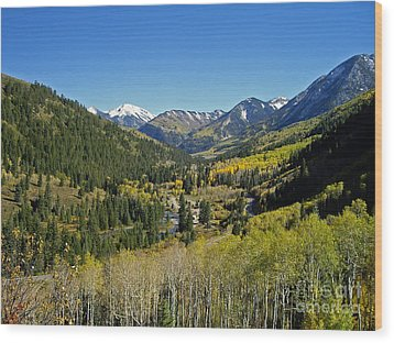 Wood Print featuring the photograph Upper Crystal River Valley by Eric Rundle