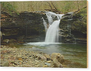 Upper Twin Falls #1 Wood Print