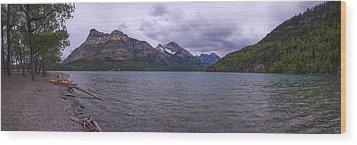 Upper Waterton Lake Wood Print by Chad Dutson