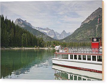 Wood Print featuring the photograph Upper Waterton Lakes by Teresa Zieba