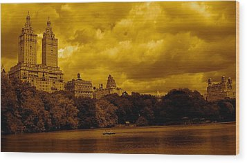 Upper West Side And Central Park Wood Print by Monique Wegmueller