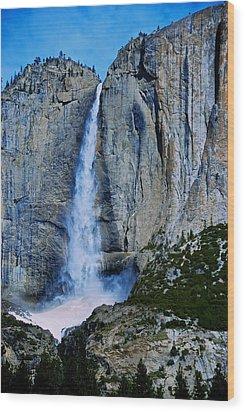 Upper Yosemite Falls Wood Print by Eric Tressler