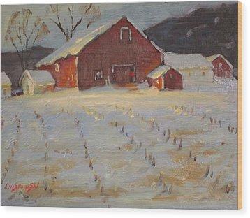 Upstate Wood Print by Len Stomski