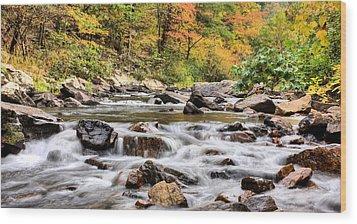Upstream Wood Print by JC Findley