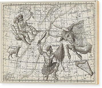 Uranographia Constellations, 1801 Wood Print by Science Photo Library