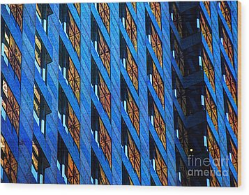 Urban Abstract 4 Wood Print by Jim Wright
