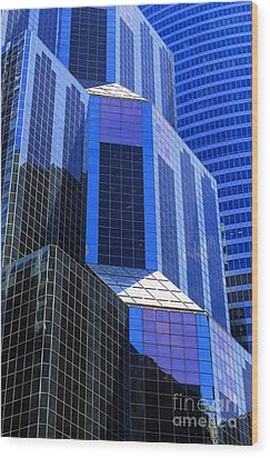 Urban Abstract 5 Wood Print by Jim Wright