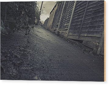 Wood Print featuring the photograph Urban Alley  by Stewart Scott