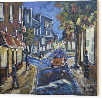 Urban Avenue By Prankearts Wood Print by Richard T Pranke
