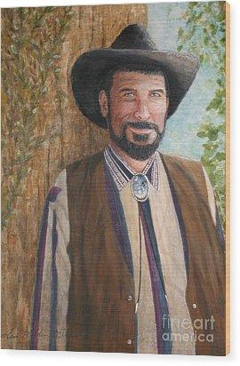 Urban Cowboy  Wood Print by Terri Maddin-Miller