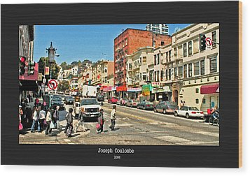 Urban Cross Walks Wood Print by Joseph Coulombe