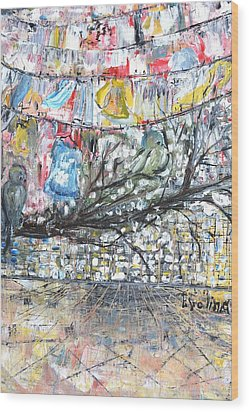 Urban Wood Print by Evelina Popilian