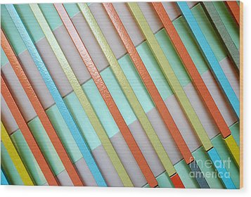 Urban Lines  Wood Print by Hannes Cmarits