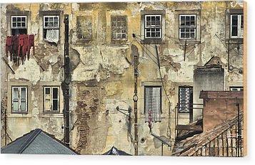 Urban Lisbon Wood Print