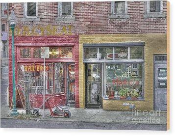 Urban Mercyseat Oil Painting Wood Print by Liane Wright