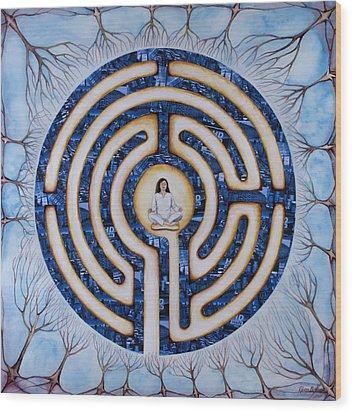 Urban Mystic Wood Print by Rebecca Barham