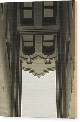 Wood Print featuring the photograph Urban Portals - Architectural Abstracts by Steven Milner