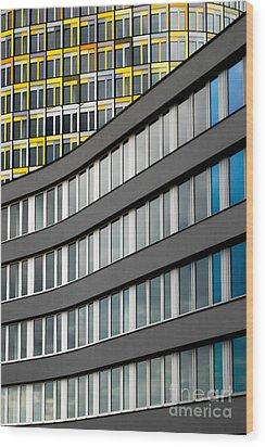 Urban Rectangles Wood Print by Hannes Cmarits