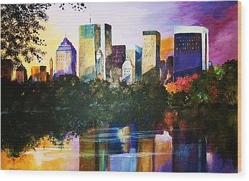 Urban Reflections Wood Print