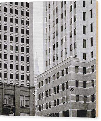 Urban San Francisco Wood Print by Shaun Higson