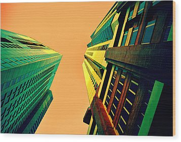 Urban Sky Wood Print by Andrei SKY