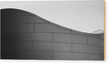 Wood Print featuring the photograph Urban Wave - Abstract by Steven Milner