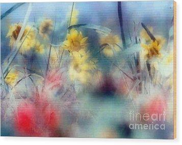 Urban Wildflowers Wood Print by Michael Hoard