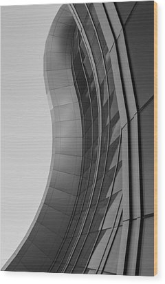 Wood Print featuring the photograph Urban Work - Abstract Architecture by Steven Milner