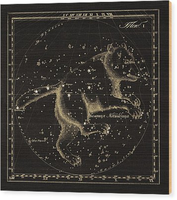 Ursa Major Constellation, 1829 Wood Print by Science Photo Library