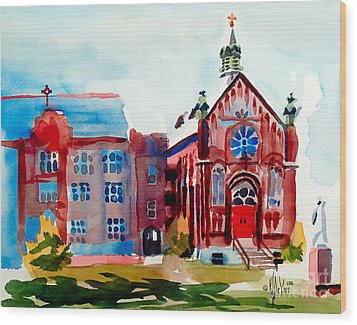 Ursuline Academy Arcadia Missouri Wood Print by Kip DeVore