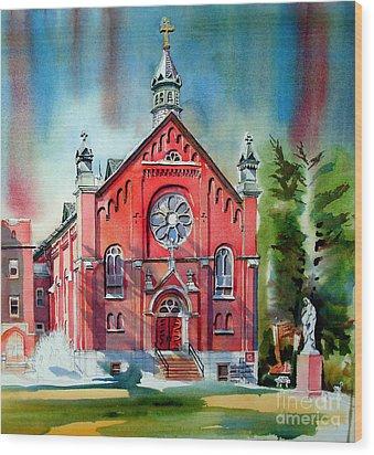 Ursuline Academy Sanctuary Wood Print by Kip DeVore