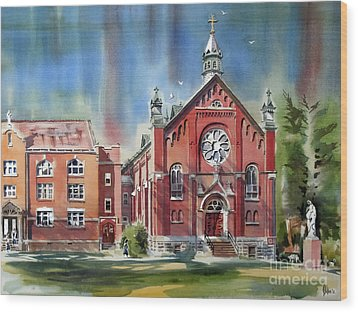 Ursuline Academy With Doves Wood Print