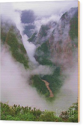 Urubamba River Wood Print by Michele Penner
