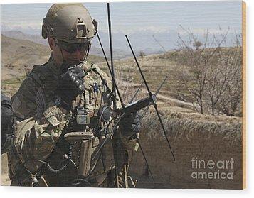 U.s. Air Force Joint Terminal Attack Wood Print by Stocktrek Images