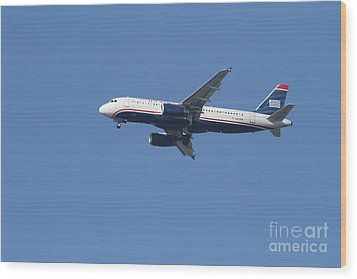 Us Airways Jet 7d21945 Wood Print by Wingsdomain Art and Photography