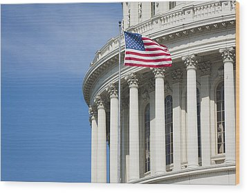 U.s. Capitol Wood Print