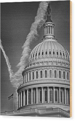 U.s. Capitol Dome Wood Print by Boyd Alexander