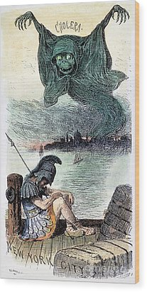 U.s. Cartoon: Cholera, 1883 Wood Print by Granger