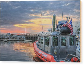 Us Coast Guard Defender Class Boat Wood Print by JC Findley