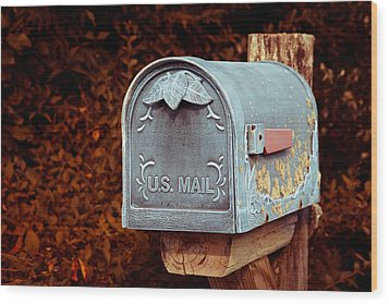 U.s. Mail Approved Wood Print by Eti Reid