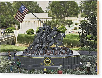 Us Marine Corps War Memorial Wood Print by Ricky Barnard