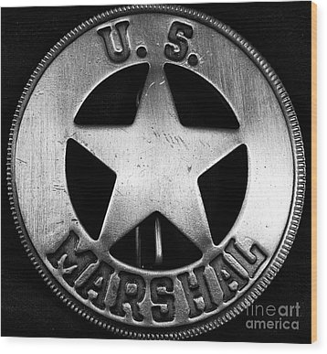 Us Marshal Wood Print by John Rizzuto