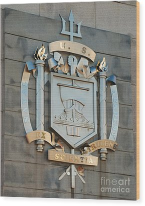 Us Naval Academy Insignia Wood Print