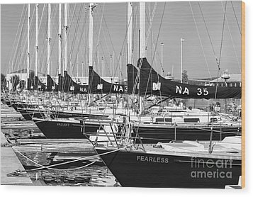 Us Navy 44 Sail Training Craft II Wood Print